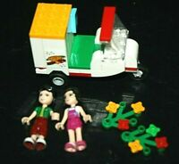 Lego Minifigure Lot & Pizza Delivery Truck Cart  Flowers Pizzeria -ZZX #
