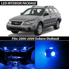 2000-2009 Subaru Outback Blue Interior LED Lights Package Kit