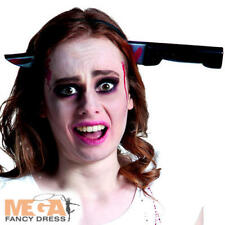 Knife Through Head Adults Fancy Dress Halloween Accessory Costume Headband New