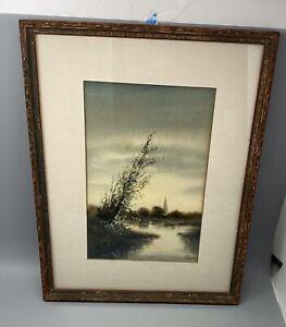 Pauline Meyer Colyar Listed Artist Framed Watercolor