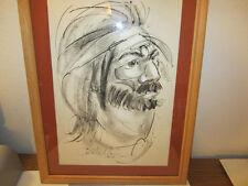Painting Argentine artist Castellanos circa 1970's Gaucho