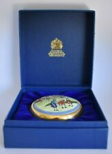 Vintage Colonial Golfers Halcyon Days Battersea Enamel Golf Paperweight Box