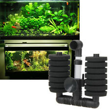 Bio Sponge Filter Betta Fry Shrimp Aquarium Fish Tank Air Pump Double Head