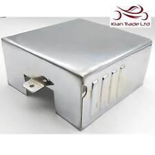 ROYAL ENFIELD 8 Voltaje Tapa de la batería Cromo Eléctrico Caja Unidad Soporte