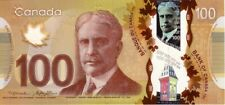 **SALE** 100 Canadian Dollars Polymer 2011 P-110 UNC - Paper Money Banknote