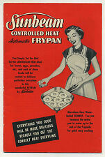 Vintage 1953 SUNBEAM AUTOMATIC FRYING PAN User Guide & Manual, Recipe Booklet