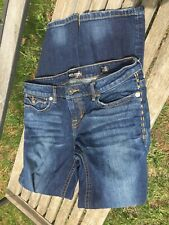 Jeans Lower Price with Mek Henderson Bootcut Jeans Womens Sz 26 Dark Distressed W Stretch L 33.5 Clothing, Shoes & Accessories