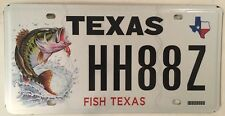 TX WILDLIFE FISH license plate Wildlife Wild Fisherman Fly fishing Hook Angling