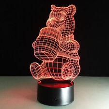 Night Light Lamp Winnie the Pooh Decoration LED Christmas Gift Kids