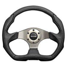 MOMO Eagle Steering Wheel - Black Leather - D Shaped - 350mm