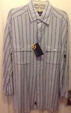 Nautica Dress Shirt Button Down Blue Stripe LT Tall NWT Long Sleeve