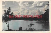 BURMA - View of Sunset on the Royal Lakes - Colour Tinted, Real Photo - 1960.