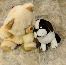 2 Stuffed Animals Plush Bear and Dog