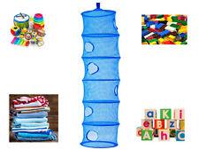 Bleu 6 compartiment suspendu filet stockage nursery organisateur tidy kids jouets vêtements
