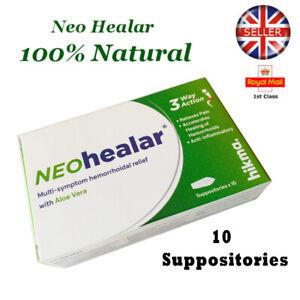 NEO HEALAR NATURAL HEMORRHOID HAEMORHHOID PILES SUPPOSITORIES REMEDY TREATMENT