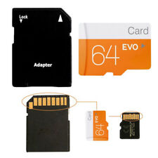 64GB Class10 Micro SDHC Flash TF Memory Card SD Adapter for Camera Mobile Phone
