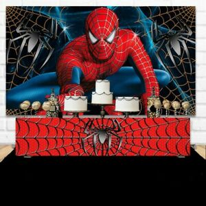 7x5ft Spiderman Birthday Boy Super hero photo backdrop party background