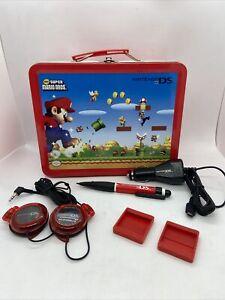 Nintendo DS Lite Super Mario Bros Starter Kit Metal Lunchbox Headphones Stylus.