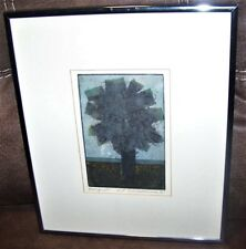 Vintage Eric Bellmann Colored Etching Bouquet Rochester NY Institute Technology