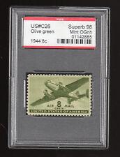 US @ C26 (1944) 8c - PSE Graded =Superb98 - Mint OGnh (Encapsulated)