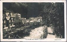 LILYWHITE POSTCARD THE BRIDGE AND PARADE LYNMOUTH 1926 - WHITSTABLE POST OFFICE