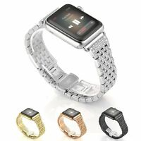 Rhinestone Diamond Stainless Steel Watch Band for Apple Watch Series 4/3/2/1