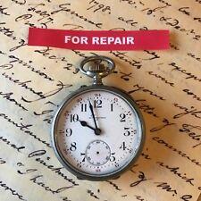 Antique LONGINES Grand Prix 9, 15 bijou montre de poche pour réparation. bon équilibre.