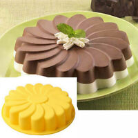 Silicone Large Flower Cake Mould Chocolate Soap Candy Jelly Mold Baking-Pans x 1