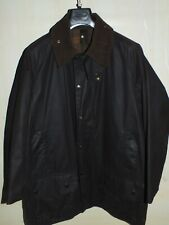 barbour beaufort jacket waxed cotton marrone  giacca   c42-107 m