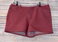 Canyon River Blues Stretch Women's Red Denim Shorts Size 13