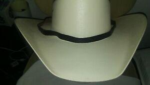 BRAND NEW Western Custom Dark Brown Fine Leather Cowboy Hat Thin Band Strap