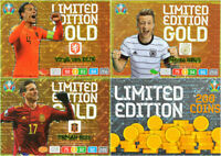 PANINI ADRENALYN XL EURO 2020 ALL 4 PREMIUM GOLD LIMITED EDITION inc COIN CARD