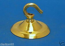 BRASS CEILING LIGHT ROSE HOOK CHANDELIER SUSPENSION HANGING FIXING PLATE