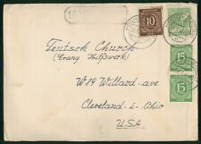 Mayfairstamps Germany 148 Hochst to Geutsch Church Man Planting Cover wwp_93753