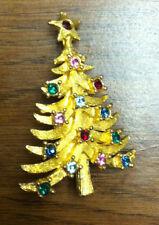 """Gold Color Christmas Tree Pin - MYLU - 2"""""""