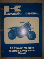 1985 Kawasaki Motorcycle Manual General Atv Assembly K