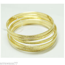 Set of 6 Multiple Bracelets Bangle 18K  22K 23K 24K Thai Baht Yellow Gold GP