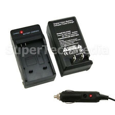 Battery Charger + Car Adapter for Canon BP-807 BP-827