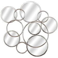 SILVER CIRCULAR  ABSTRACT MIRRORED WALL ART - A FASCINATING PIECE OF ART.