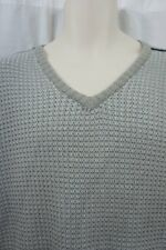 Kenneth Cole Reaction Sweater Sz XXL Heather Grey Knitted Casual V-Neck