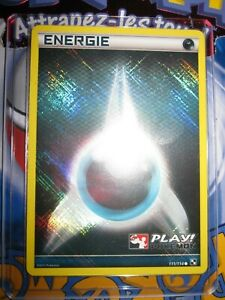 POKEMON (◕‿◕✿) PLAY POKEMON ENERGIE 111/114 FRENCH FOIL NOIR BLANC HOLO MINT