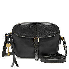 NEW FOSSIL WOMEN'S LEATHER KENDALL CROSSBODY BAG BLACK
