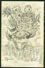 VINCENT VAN GOGH - Pencil on original 19th century paper