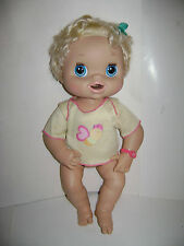2010 Hasbro Baby Alive Real Surprises Blonde Interactive Doll Talks Eats Pees