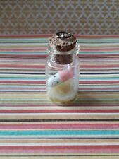 Light Pink Happy Pill Bottle Charm With Gold Glitter hand made*