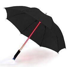 Paraguas luz LED Linterna De Tela Negra Con Sable Star Wars Darth Vader paraguas