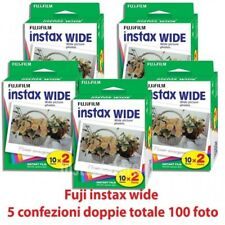 Fuji instax wide 5 confezioni doppie 100 Foto Per fujifilm Instax 210 300 100 ec