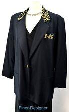 DUMAS Womens animal boyfriend blazer suit JACKET light coat wool NEW VTG XL NEW
