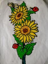 Window Color Fensterbilder Deko Blumen Sonnenblume Marienkäfer