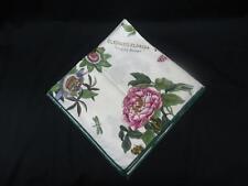 Portmeirion Botanic Garden Napkin Cloth 100% Cotton 17 in. Floral Botanical NEW